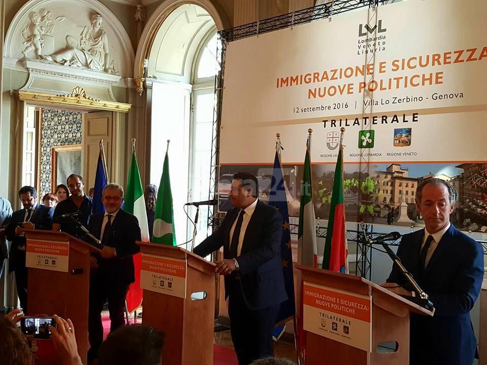 trilaterale liguria lombardia veneto