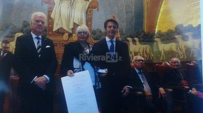 Patrizia Bottiglieri premiata dai Savoia