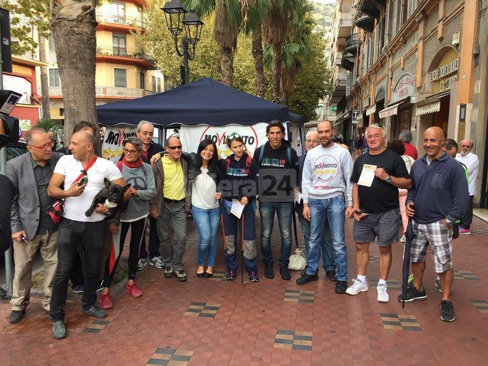 """riviera 24 - E' partita la """"Marcia M5S per la Costituzione"""""""