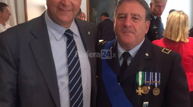 riviera24 - Diego Parodi con il Tenente Colonnello Rubino