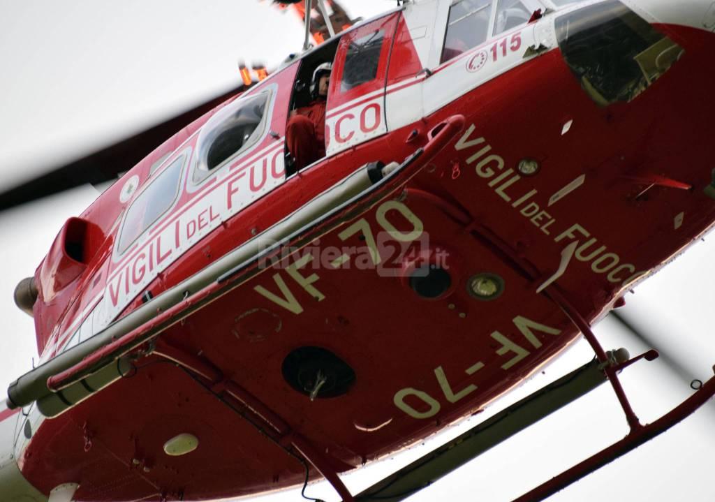 Riviera24 - elisoccorso scalvi carabinieri 118 vigili del fuoco