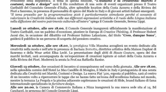 """riviera24 - """"L'italiano e la creatività: marchi e costumi, moda e design"""""""