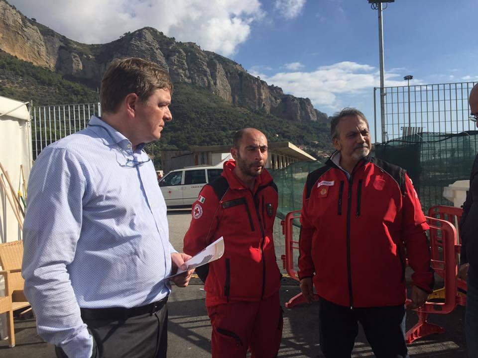 Visita delegazioni Croce Rossa al Parco Roja