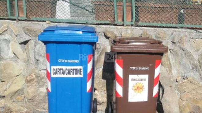 Differenziata a Sanremo, spazi condominiali, carta, organico