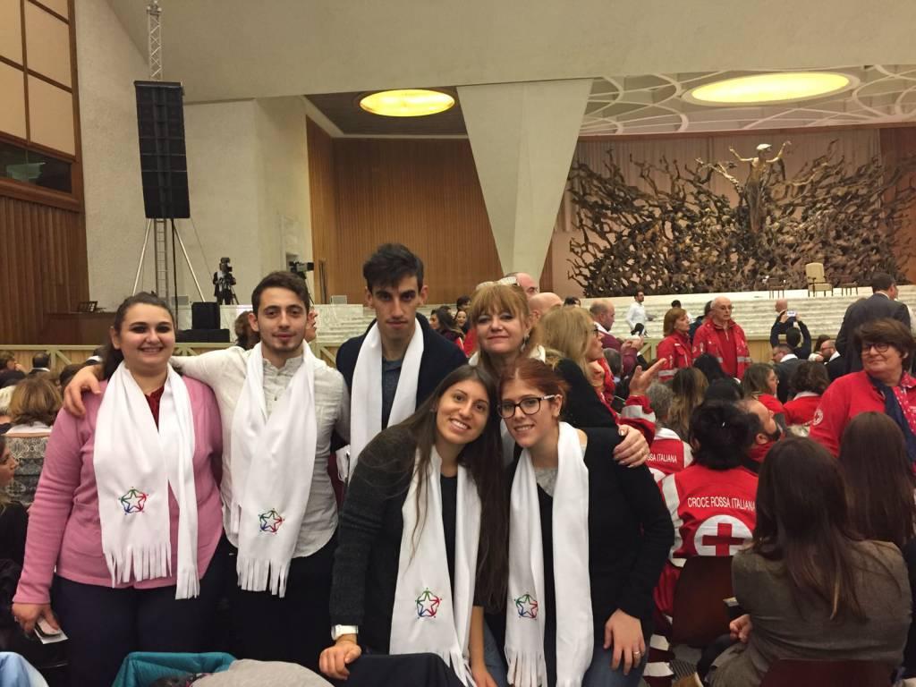 I volontari del servizio civile di Taggia in udienza da papa Francesco