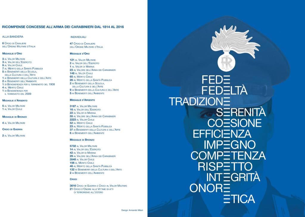 Presentato il calendario storico e l'agenda 2017 dell'arma dei carabinieri