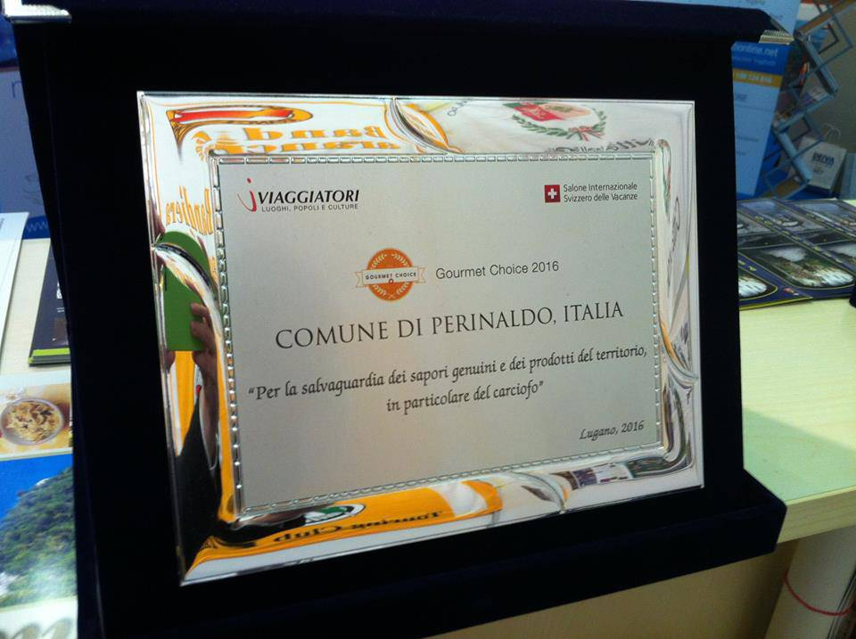riviera24 - Premio Gourmet Choice 2016 Excellence in Food & Wine a Perinaldo
