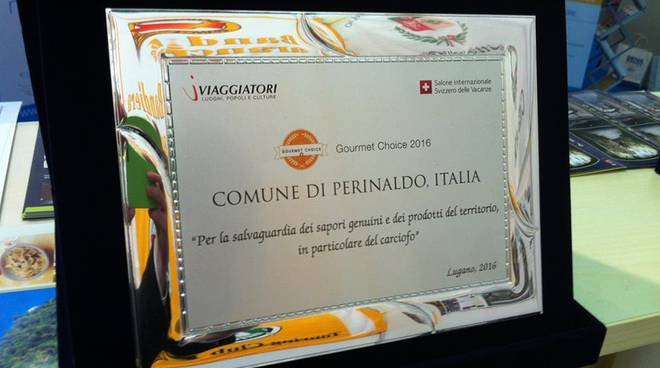 riviera24 - Premio Gourmet Choice 2016 Excellence in Food & Wine a Perinaldo