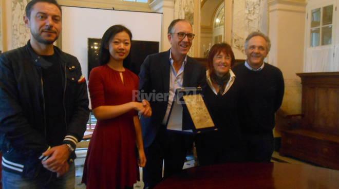 Riviera24 - scambio culturale Sanremo Cina Diego Campagna e  Xuanxuan Sun