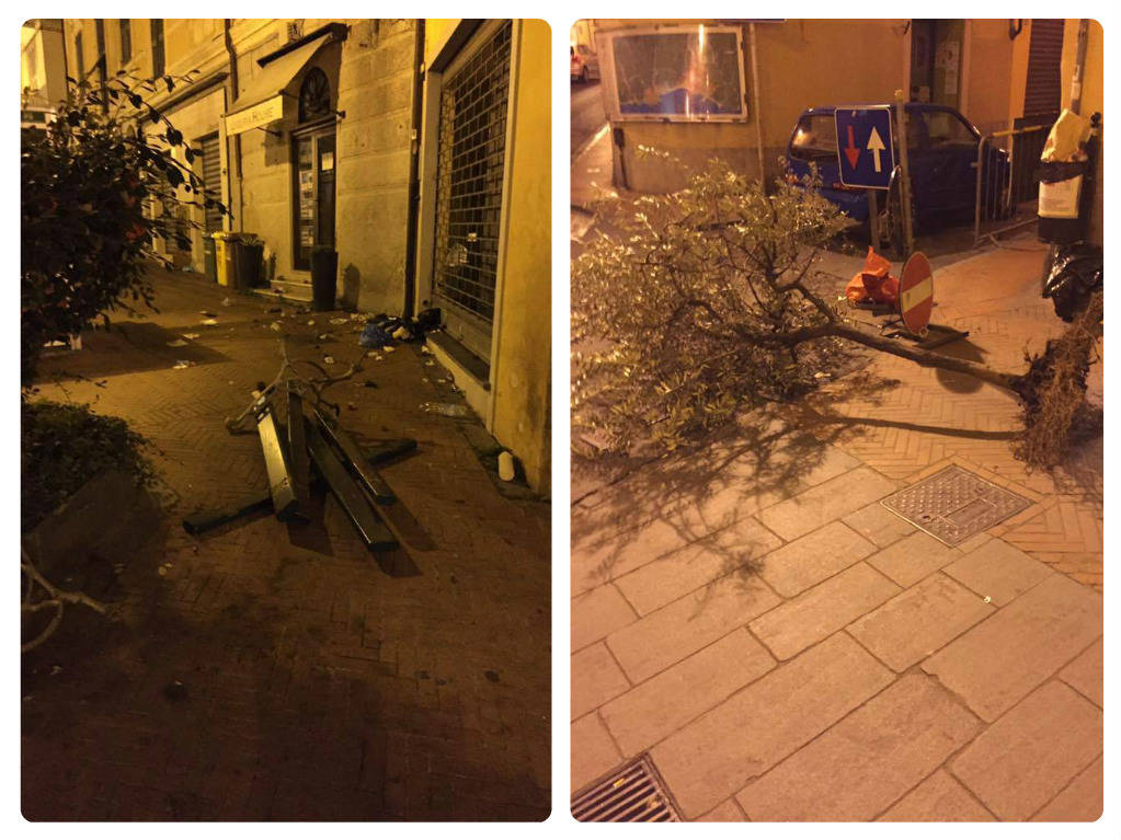 riviera24 - vandali in via XX Settembre a Porto Maurizio Imperia