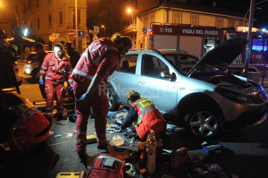 Sanremo incidente auto moto