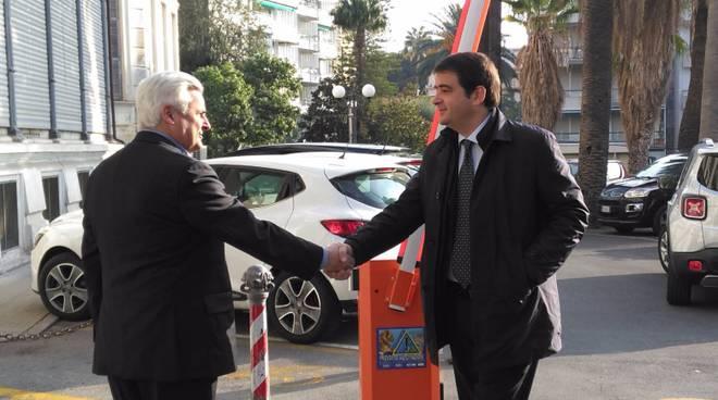 Sanremo, incontro tra l'onorevole Fitto e il sindaco Biancheri
