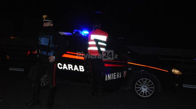 Posto di blocco carabinieri Ventimiglia