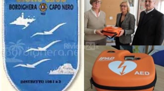 Riviera24 - defibrillatore Lions Club Bordighera C.N. Host a scuole