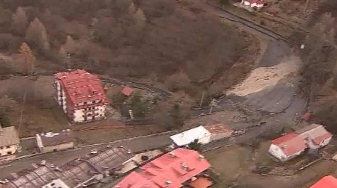 riviera24 - monesi vista dall'alto dopo alluvione novembre 2016
