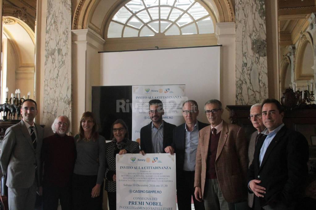 Riviera24 - Sanremo, diretta satellitare Premi Nobel al Casinò, conferenza stampa