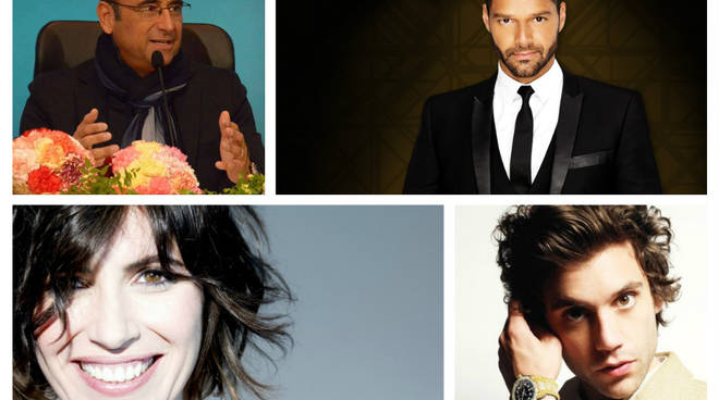 Giorgia, Mika, Ricky Martin, Carlo Conti