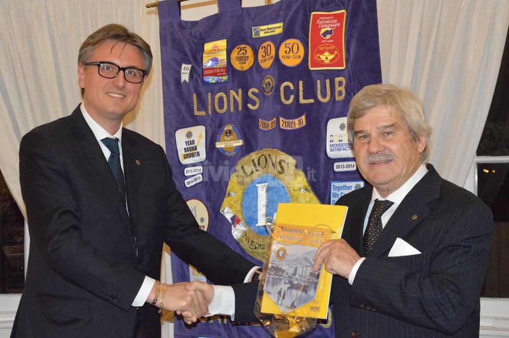 Il Lions Sanremo Host incontra il Capitano delle Frecce Tricolori Filippo Barbero