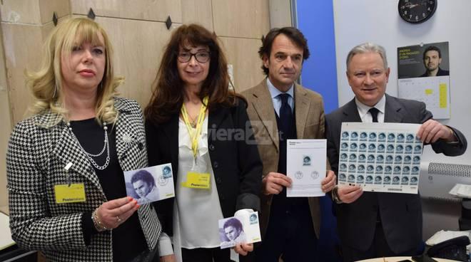 riviera24 - francobollo  Tenco:  primo annullo filatelico
