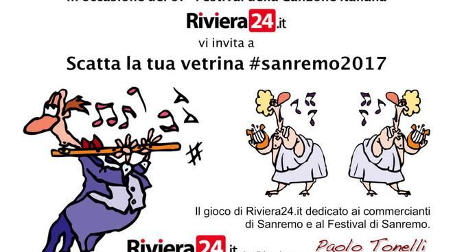 Riviera24 - gioco vetrina #sanremo2017