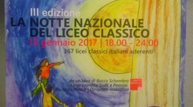 """riviera24 - """"Notte Nazionale del Liceo Classico"""""""