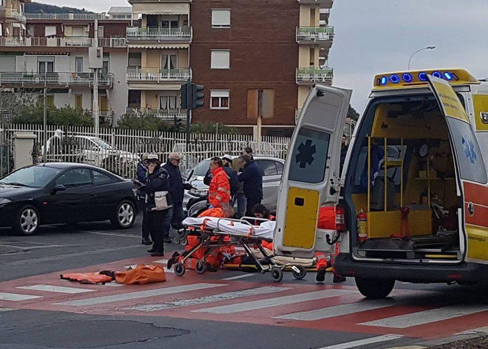 riviera24 - pedone investito arma di taggia soccorsi 118 croce verde