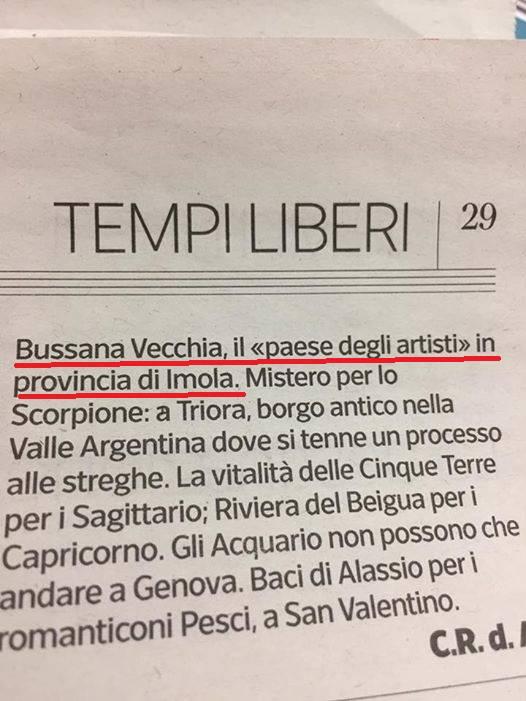 """riviera24 - per il """"Corriere della Sera"""" Bussana Vecchia è in provincia di Imola"""