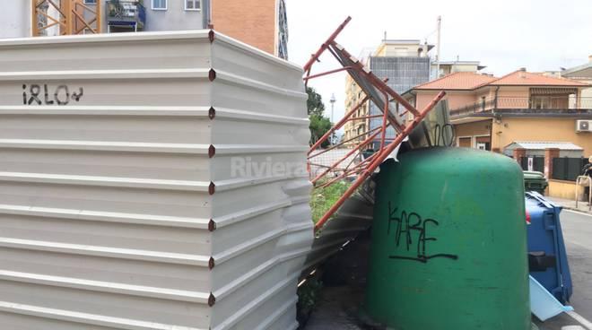 riviera24 - Vallecrosia, caduta di impalcatura