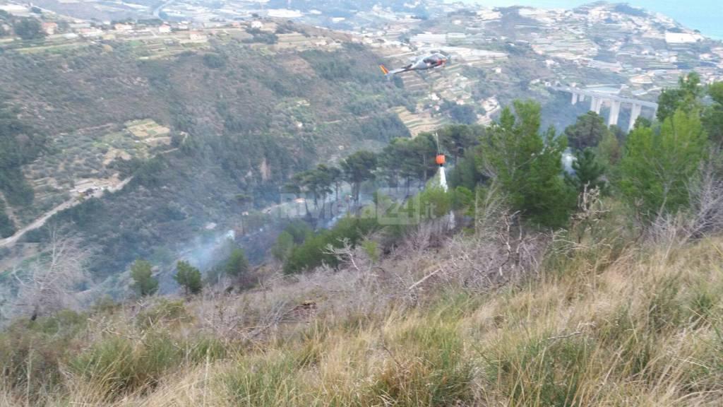 Sanremo, incendio località Verezzo