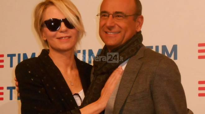 riviera24 - Carlo Conti e Maria De Filippi