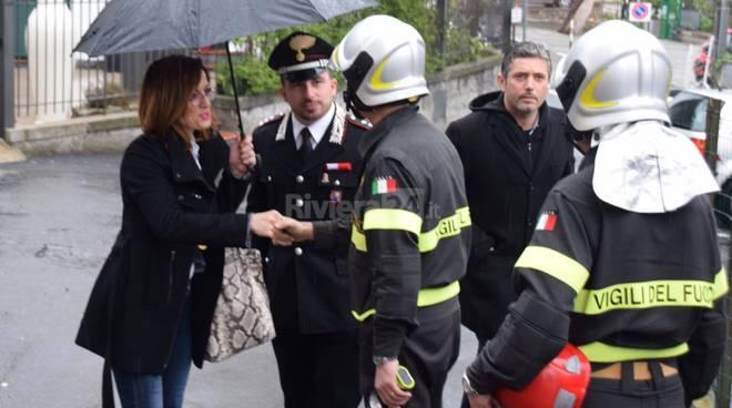 riviera24 - incendio mongioie sopralluogo barbara bresci vigili del fuoco