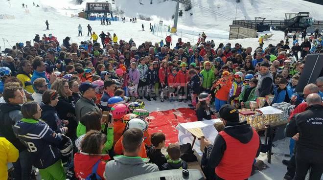 Riviera24 - premiazione slalom gigante prato nevoso