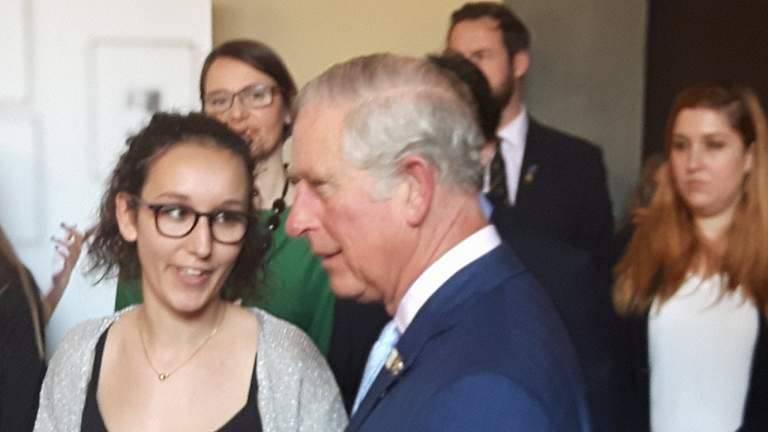 Beatrice Novaro premiata dal principe Carlo d'Inghilterra