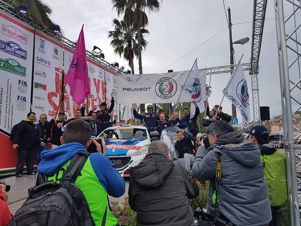 La Peugeot 208 di Andreucci-Andreussi si laurea vincitrice del Rally di Sanremo