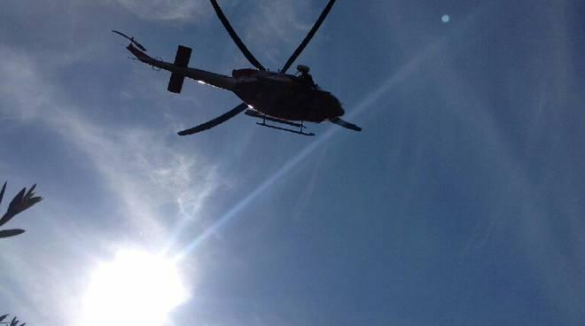 riviera24  - elisoccorso elicottero vigili del fuoco