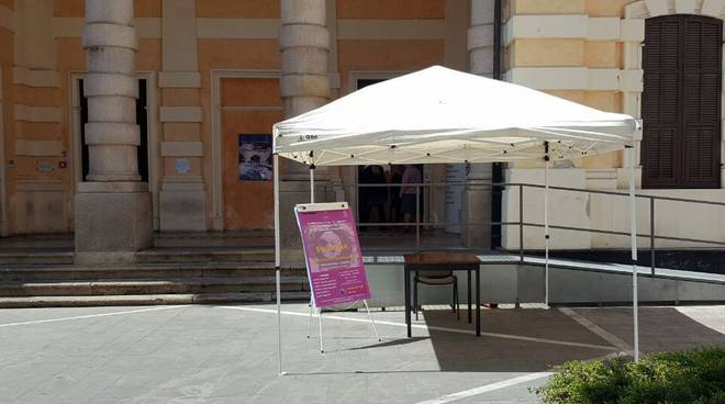 riviera24 - Gazebo alla Biblioteca Lagorio