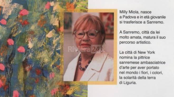 Riviera24 - mostra Milly Miola I colori dell'anima