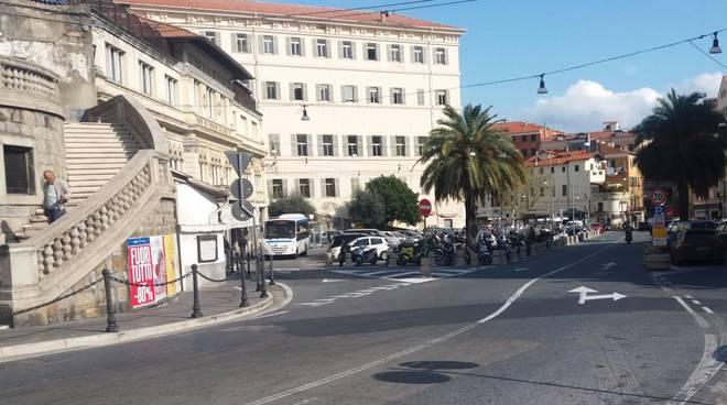 Sanremo travi e tombinature torrente san Romolo