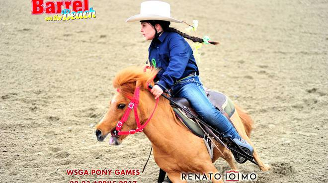 "The river ranch di Taggia trionfano al ""Barrel on the beach pony Wsga"""