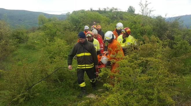 esercitazione per pompieri e volontari