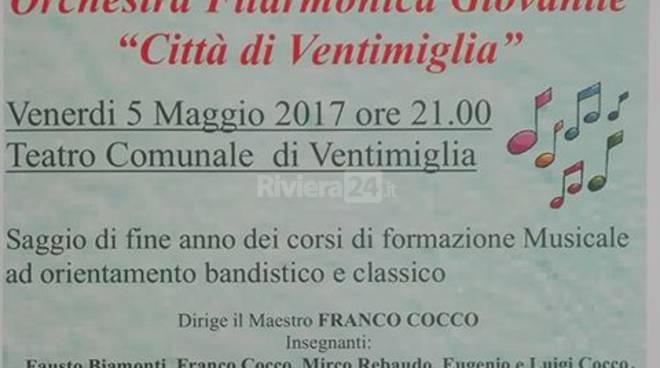 Riviera24 - saggio Orchestra Filarmonica Giovanile Città di Ventimiglia