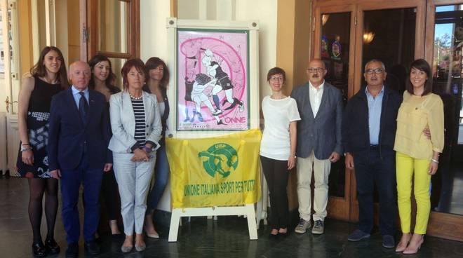 Sanremo, inaugurata al Casinò la mostra fumetto dedicata alla Carta dei diritti della donna nello sport