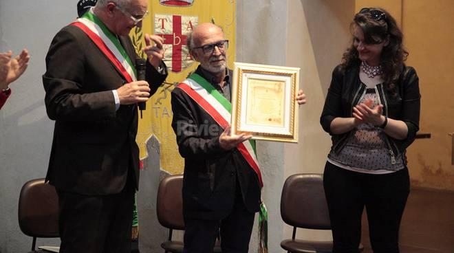 La consegna della cittadinanza onoraria di Taggia al sindaco di Verbicaro Silvestri