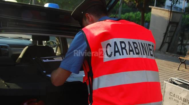 Dispositivi di sicurezza carabinieri Ventimiglia e Bordighera