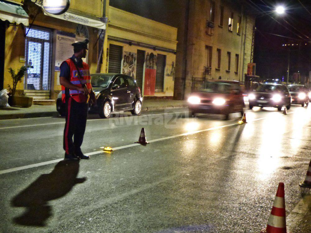 dispositivi di sicurezza dei carabinieri Ventimiglia e Bordighera