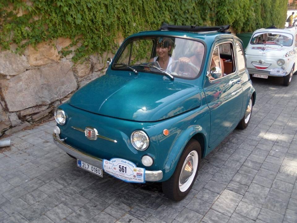 Fiat 500 tappa al Parasio di Imperia
