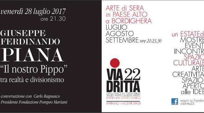riviera24 - Arte di sera in paese alto a Bordighera