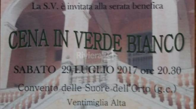 "riviera24 - ""Cena in verde bianco"" a Ventimiglia"