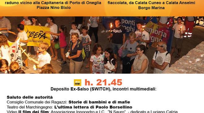 riviera24 - Fiaccolata in memoria delle vittime innocenti di mafia a Imperia