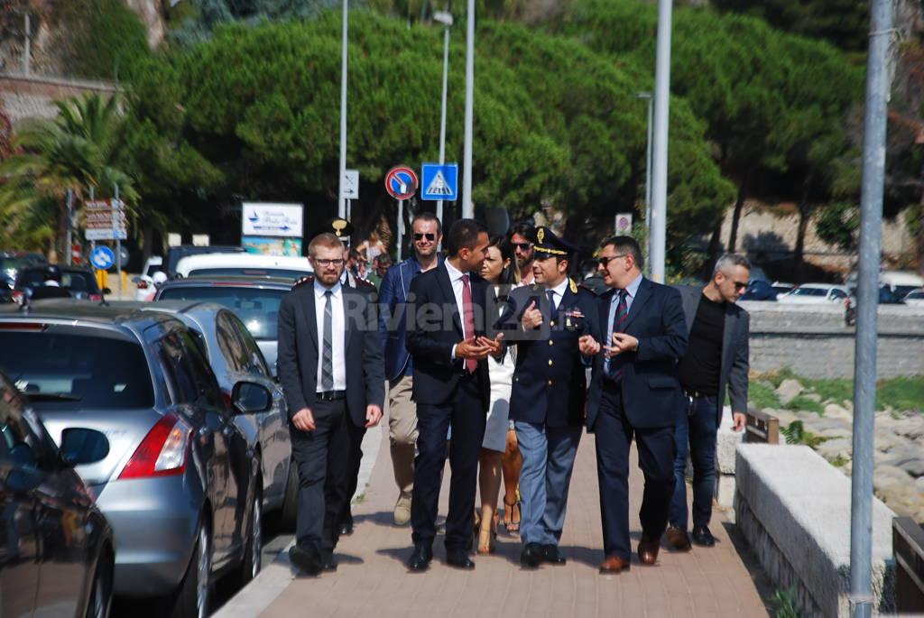 visita del vice presidente della Camera Luigi Di Maio a Ventimiglia